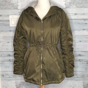 ME JANE GREEN INSULATED HOODED JACKET